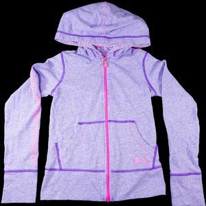 Girl's Zip Up Under Armour Hoodie Size XS